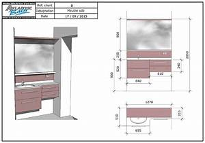 un meuble sur mesure pour une salle de bain de 3 m2 With petite salle de bain plan