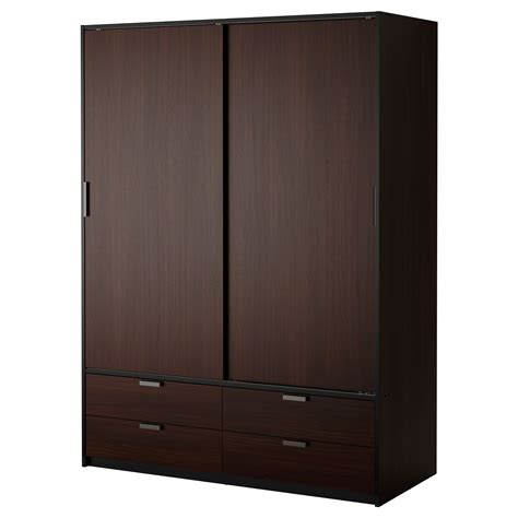 Black Brown Wardrobe Closet by Possible Wardrobe Solution Trysil Wardrobe W Sliding