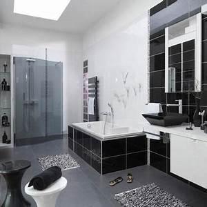 deco salle de bain gris et noir With salle de bain noir et argent