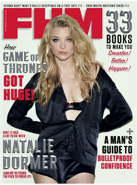 Natalie Dormer 2014 by Natalie Dormer Fhm Magazine Uk October 2014 Issue