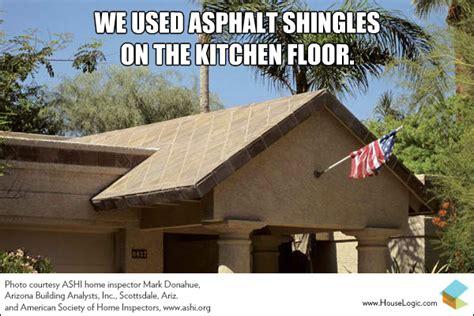 We Used Asphalt Shingles On The Kitchen Floor