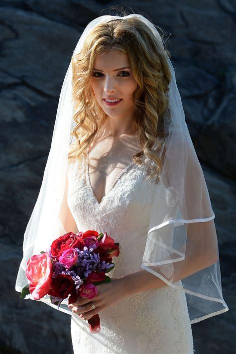 wedding style inspiration anna kendrick  flawless   wedding dress wait