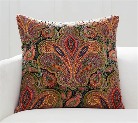 Embellished Beaded Pillow Covers Pottery Barn by Embellished Paisley Pillow Cover Pottery Barn