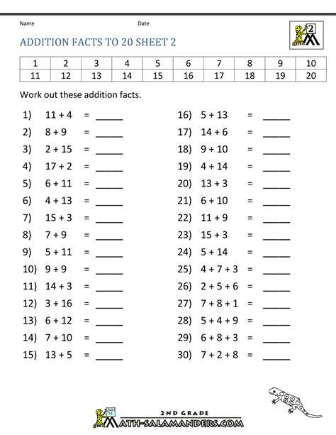 math addition facts