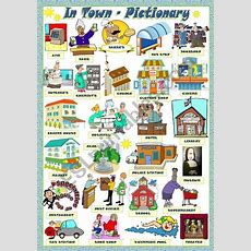 A Pictionary About Public Places In Town Hope It Is Useful  My Town  English Vocabulary