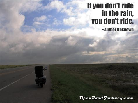 Motorcycle Quotes We Love, Motorcycle On Road, Rain