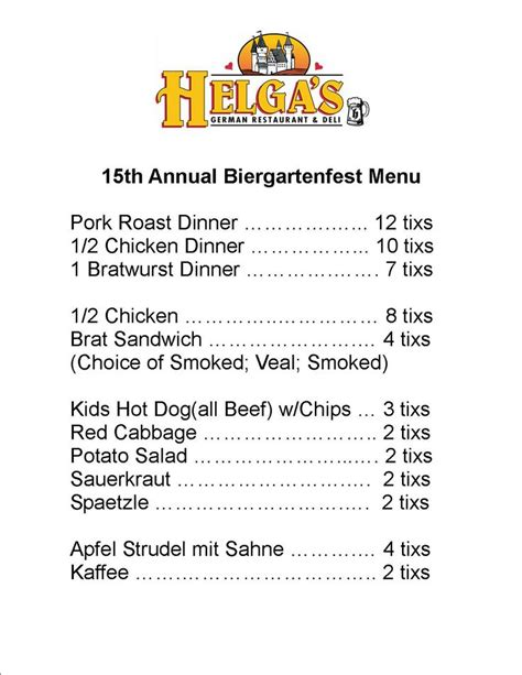 german cuisine menu german menu german food menu food german