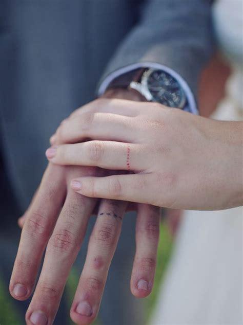 romantic wedding ring finger tattoo designs  ideas