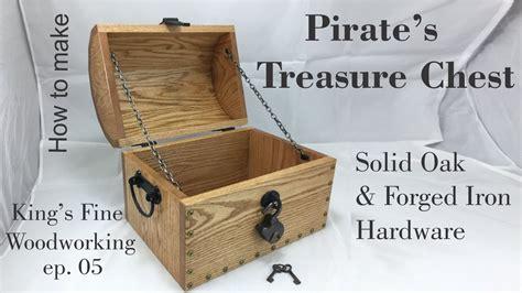 pirates treasure chest  oak forged