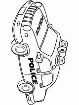 Police Coloring Pages Cop Printable Transportation Template Mycoloring sketch template