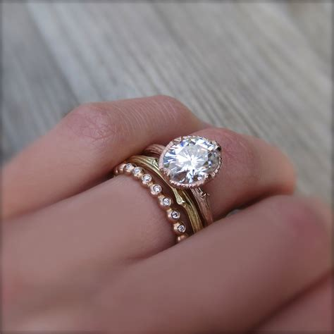oval forever one or supernova moissanite twig engagement ring 2ct kristin coffin jewelry