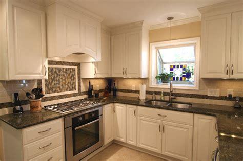 beautiful white kitchen cabinets with granite countertops