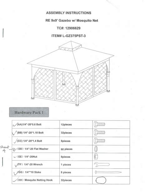 floor l assembly instructions assembly instructions gazebo 9x9 with mosquito net