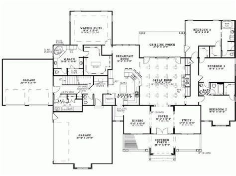 luxury  bedroom bungalow house plans  home plans design