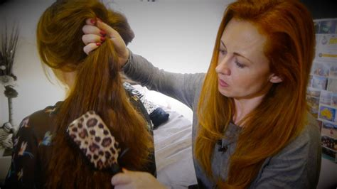Relaxing Hair Brushing, Scalp Massage, Oils & Hair Play