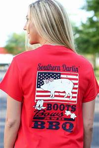 Simply Southern Shirts Size Chart Southern Darlin Boots Bows Bbq Usa Flag Pig Bright