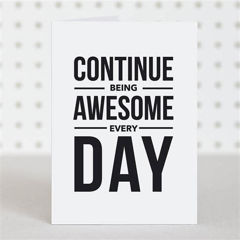 'be Awesome' Birthday Card By Doodlelove