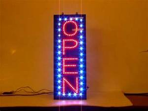 Best Buy Neon Signs new flashing LED vertical OPEN sign