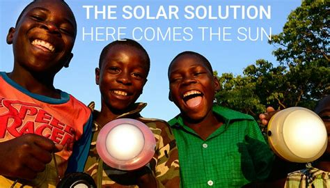 solar lights eradicating kerosene lamps  africa