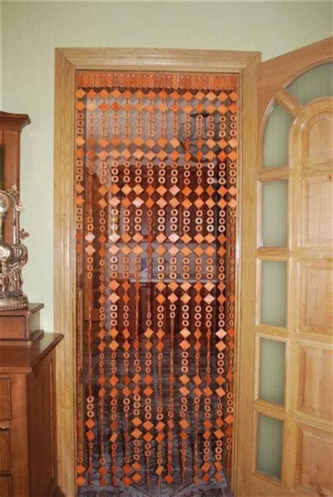 wood bead curtains for doorways new wooden beaded door curtain handmade by artgateshop on