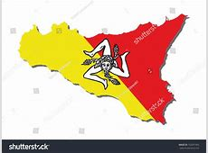 Flag Sicily Stock Vector 162057965 Shutterstock