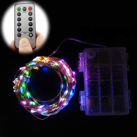 led string lights with remote 10m 6m 100 60 leds remote control 8 modes battery