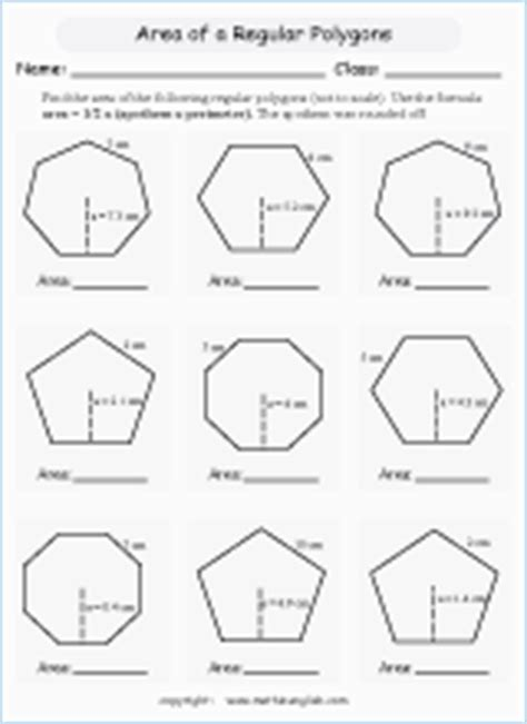 area  parallelograms printable grade  math worksheet