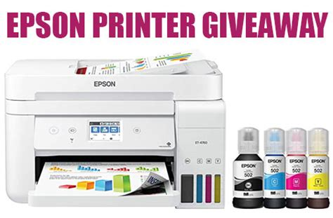 Epson Supertank Wireless Printer Giveaway — Deals from