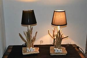 Lampe Chevet Bois Flotté : comment fabriquer sa lampe de chevet creapach ~ Melissatoandfro.com Idées de Décoration