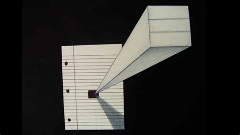 Draw Optical Illusions Templates by 3d Paper Illusion Drawing Youtube