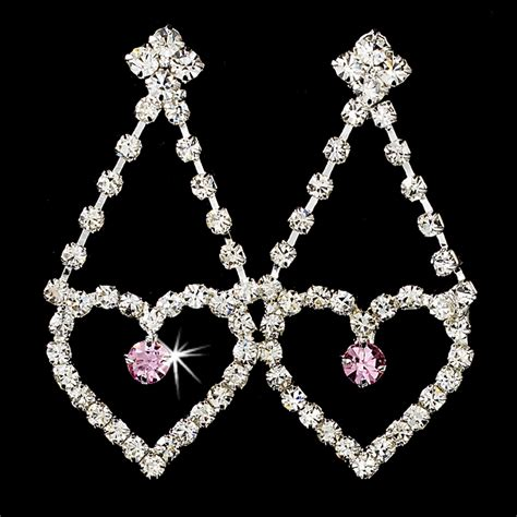 large rhinestone silver shiny quinceanera quinceaera sweet 15 matching light pink rhinestone