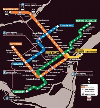 Metro Map Subway Montreal Vanier Carte College