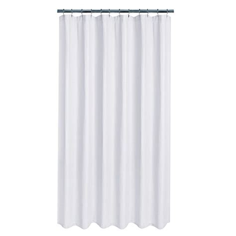 maytex textured waffle fabric shower curtain white