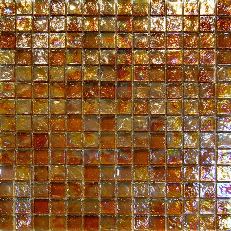 10sf golden brown iridescent glass mosaic tile backsplash