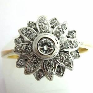 bagues anciennes bague fleur ancienne 1184 bijoux With bagues anciennes