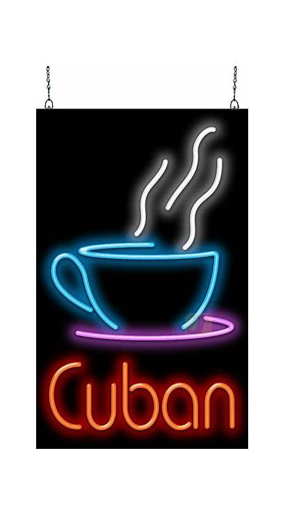 Neon Coffee Sign Cuban Fc Cup