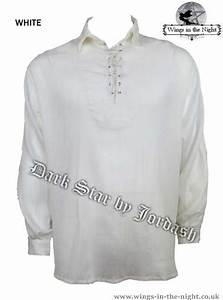 Men's Gothic Cheesecloth Laced Shirt