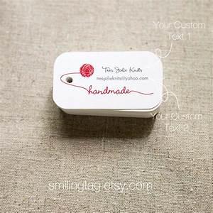knitting yarn personalized gift tags handmade with love tags With handmade labels for knitting