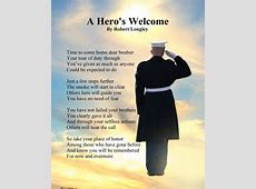 A Hero's Welcome Marines memorial poem Marine Corps