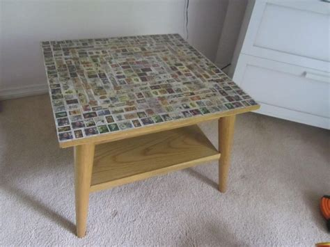 decoupage postage st coffee table our craft pinterest