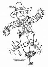 Coloring Scarecrow Fall Hang Tuesday Halloween Week Dulemba Enjoy sketch template