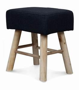Tabouret Haut En Bois : tabouret en bois et assise rembourr e en tissu gris haut 42cm ~ Teatrodelosmanantiales.com Idées de Décoration