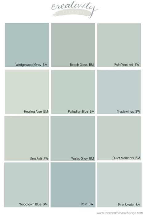 comparing popular blue gray and green paint colors