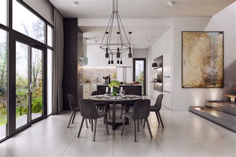 chic black  white dining room ideas   project