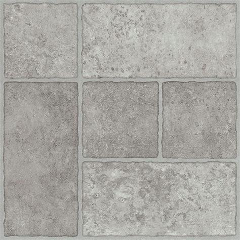 trafficmaster grey resilient vinyl tile