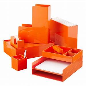 orange poppin stacking letter tray the container store With colored stackable letter trays