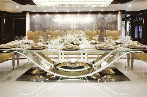 luxury modern formal dining room sets design  glass
