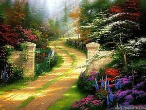 Beautiful House And Amazing Nature Wallpaper
