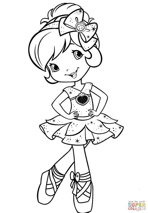 strawberry shortcake ballerina coloring page