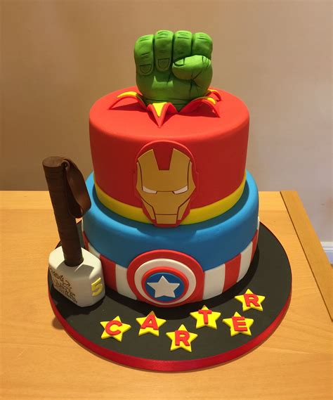 We look at 15 amazing birthday cakes that really showcase our favorite. Avengers cake | Avengers birthday cakes, Marvel birthday ...